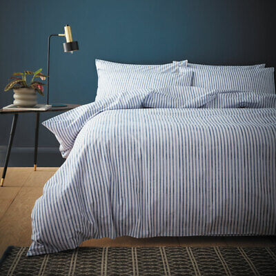 £47.49 • Buy Content By Terence Conran Chelsea Textured Stripe Cotton 200 TC Duvet Cover Set