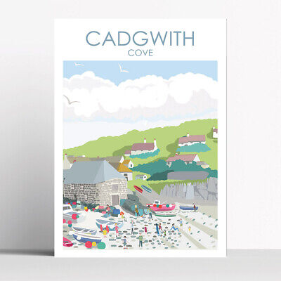 £16 • Buy Cadgwith Cove Cornwall Art Print By Betty Boyns