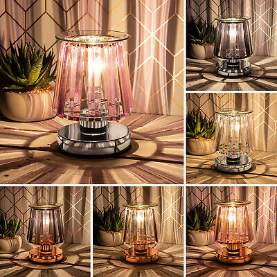 £19.95 • Buy Crystal Glass Shade Aroma Wax Melt And Oil Burner Electric Touch Lamp Wax Warmer