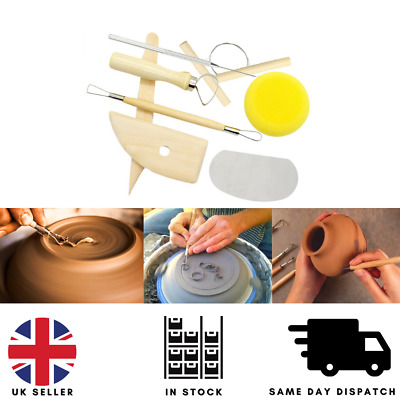 £4.99 • Buy 8Pc Polymer Clay Tools Modelling Sculpting Tool Pottery Models Art Projects Set