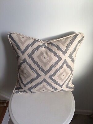 """£28 • Buy Andrew Martin Fabric """"glacier"""" Piped Cushion Cover  Storm Colour Made To Order"""