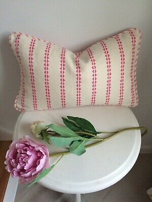 """£25.95 • Buy VANESSA ARBUTHNOTT """" SIMPLE TICKING DETAIL"""" PIPED CUSHION COVER  SWEET PEA 18x11"""