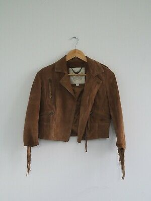 AU40 • Buy Forever New Brown Leather Jacket Size 8