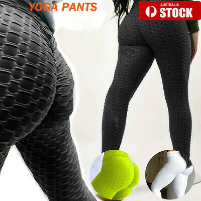 AU14.95 • Buy Womens Yoga Pants Butt Lift Leggings Sports Gym Fitness Anti Cellulite Trousers