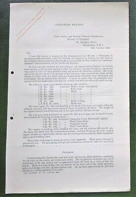 CR Accident Report 1919 CARSTAIRS STATION Caledonian Railway • 4.99£