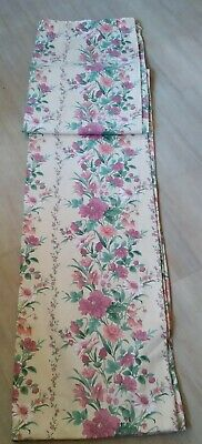 £17.50 • Buy VINTAGE Pr Floral Curtains Cream Background Lined 64W X 86 L Patio French Doors