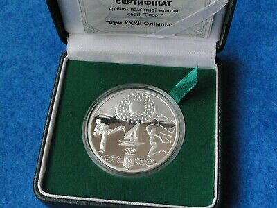 £65.19 • Buy Olympic Silver Coin 925 Sterling 10 Hryvnia Tokyo 2020 NOC Ukraine Medal