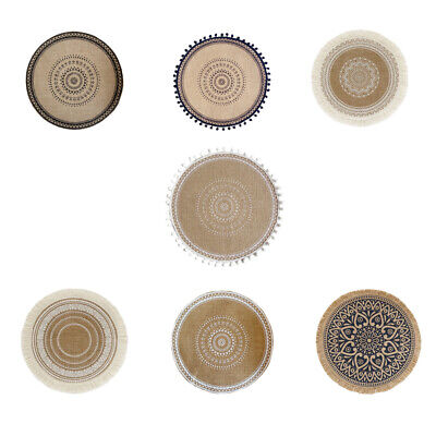 £3.70 • Buy Coaster Tableware Non-slip Kitchen Placemat Decor Pad Round Nordic Table Mat