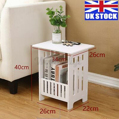 £13.69 • Buy White Bedside Table Cabinet Side End Table Nightstand Organizer Tea Home Stand