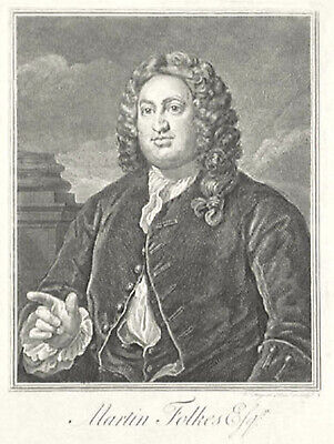 £50 • Buy Engraved Portrait Of Martin Folkes By William Hogarth, Large Print