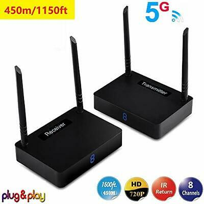 £157.99 • Buy MEASY HD595 5.8G Wireless HDMI Extender Transmitter And Receiver Up To 450m With
