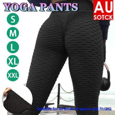 AU17.56 • Buy Womens Yoga Pants Butt Lift Leggings Sports Gym Fitness Anti Cellulite Trousers