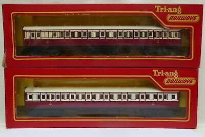 Tri-ang R427 & R428 Early Caledonian Livery Coaches From 1963 • 30£