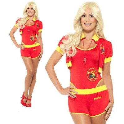 AU93.91 • Buy Ladies Deluxe Baywatch Lifeguard Costume 1980s 90s Hen Party Fancy Dress XS-M