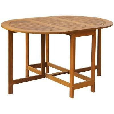 AU142 • Buy Acacia Wood Dining Room Kitchen Drop Leaf Extendable Folding Dining Table