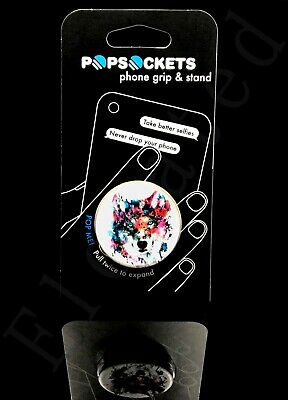 AU12.98 • Buy AUTHENTIC NEW PopSockets Single Phone Grip PopSocket Floral Wolf