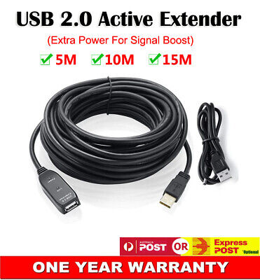 AU29.95 • Buy USB Male To Female Active Extender Signal Boost Extension Cable High Speed Cord