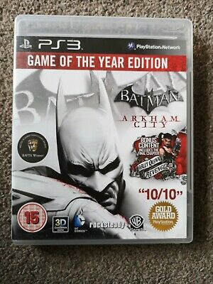 £4.50 • Buy Arkham City Game Of The Year Edition PS3 PlayStation 3