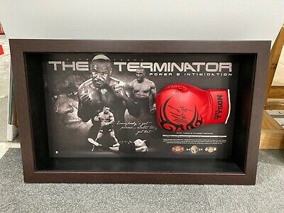AU795 • Buy MIKE TYSON HAND SIGNED GLOVE FRAMED LIMITED Edition Glove Comes With COA Classy