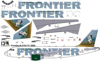 £7.10 • Buy Frontier Hawk Airbus A319 Airliner Pointerdog7 Decals For Revell 1/144 Kits