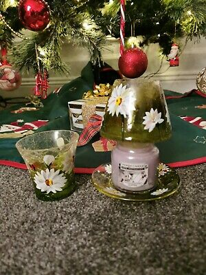 Yankee Candle Plate And Shade SMALL DAISY RARE RETIRED • 8.99£