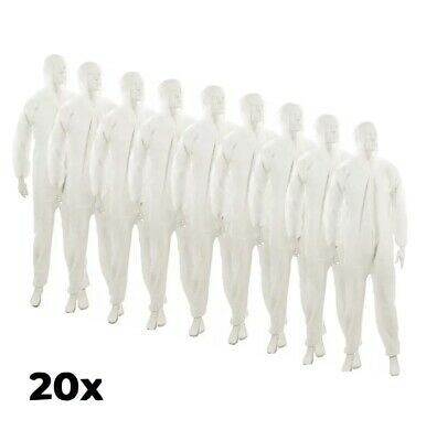 £85 • Buy 20x Disposable Hooded Coverall Paper Suit Protective Overall. DIY Spray Paint