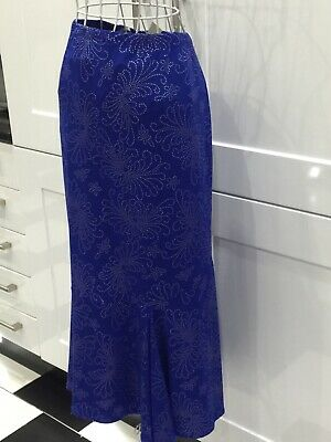£22.99 • Buy New Kim And Co Size 2XL Maxi Skirt Royal Blue With Stud Detail Godet Flareout