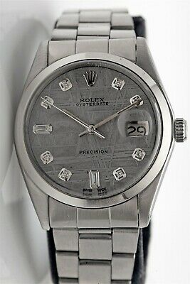 AU3477.36 • Buy Estate $10,000 ROLEX METEORITE Diamond OYSTERDATE Mens 34m Watch BOX & WTY