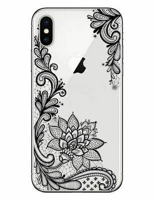 AU3.59 • Buy IPhone XS 8 7 Plus 6S Case Mandala Pattern Clear Tough Floral Cover For Apple