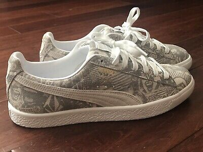 Puma Clyde X Volcom X Billys Suede Gray White Skateboard Sneakers Shoe Sz 9 NEW • 55.09£