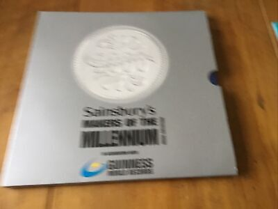 £5 • Buy Sainsburys Makers Of The Millenium Medal Collection Book And Coins