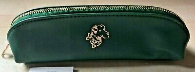 £12 • Buy BNWT New Cath Kidston Green Curved Pencil Case With Gold Embossed Dog Portrait