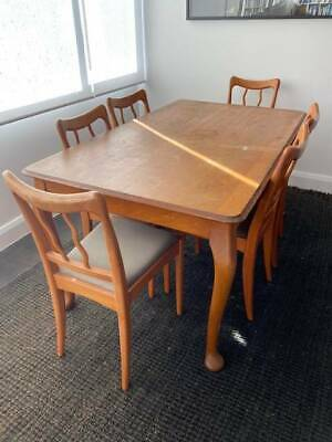 AU300 • Buy Solid Timber Dining Table And 8 Matching Chairs