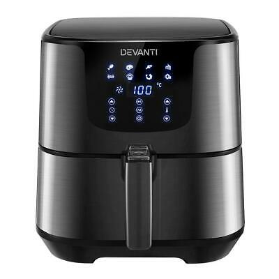 AU144.95 • Buy Devanti Air Fryer 7L LCD Fryers Oven Airfryer Kitchen Healthy Cooker Stainles...