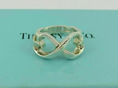 £72.32 • Buy TIFFANY & CO Sterling Silver Double Loving Heart Ring Size 5.25