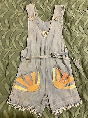 AU140 • Buy Chasing Unicorns Waiting For The Sun Jumpsuit Overalls Short Version - Sz Small