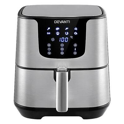 AU144.95 • Buy Devanti Air Fryer 7L LCD Fryers Oil Free Oven Airfryer Kitchen Healthy Cooker