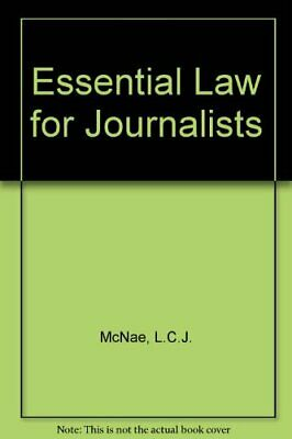 £8.49 • Buy Essential Law For Journalists By McNae, L.C.J. Hardback Book The Cheap Fast Free