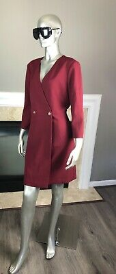 AU22.58 • Buy NWT Tara JARMON Rosy BORDEAUX Gaberdine DRESS 👗 Euro 44 US 12
