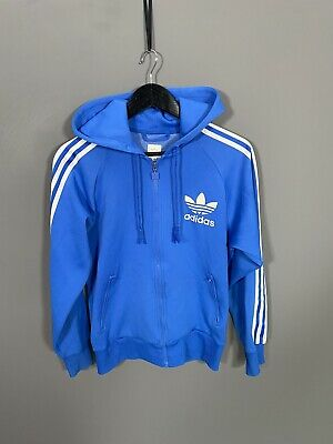 £39.99 • Buy ADIDAS HOODED FIREBIRD Track Top - Small - Blue - Great Condition - Men's