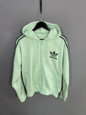 £39.99 • Buy ADIDAS HOODED FIREBIRD Track Top - Large - Green - Great Condition - Men's