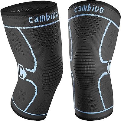 $20.52 • Buy CAMBIVO 2 Pack Knee Brace, Knee Compression Sleeve Support For Running, ACL, And
