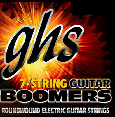 AU15.84 • Buy GHS Boomers Guitar Strings 7-String Roundwound Electric Medium 10-60