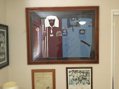AU200 • Buy Signed State Of Origin Jersey By Tommy Raudonikis & Alfie Langer