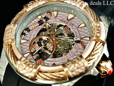 $ CDN132.88 • Buy NEW Invicta Men's 52mm BOLT VIPER SNAKE Automatic Silver & Rose Tone SS Watch