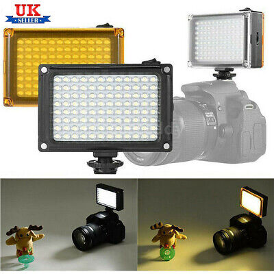 96LEDs DSLR Camera Camcorder Video Light Lamp Lighting Panel For Canon Nikon UK • 12.98£
