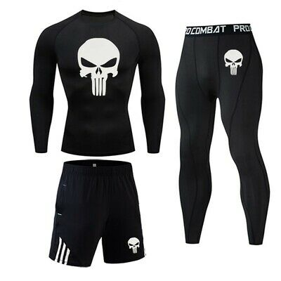 £34.99 • Buy Mens GYM Workout Compression Running Sports Top Pants Base Layer Shorts Leggings