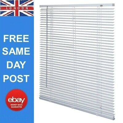 £8.98 • Buy Aluminium Metal Venetian Blinds Trimable Easy Fit 25mm Slat Home Office All Size