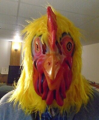 $ CDN15 • Buy Rooster Chicken Head Latex Mask For Halloween Or Party Costume