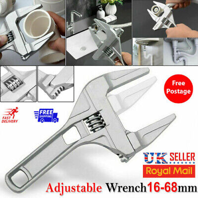 """£5.22 • Buy 8"""" 200mm Wide Adjustable Large Spanner Wrench Hand Nut Opening Pipe Tool Jaw UK"""